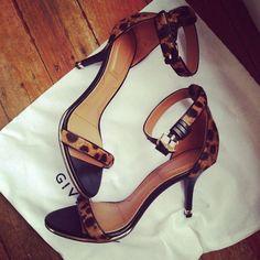 Givenchy animal print sandals.