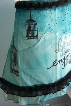 i would be much more likely to wear an apron if it were awesome with black ruffly chiffon trim!