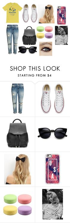 """""""Rio Olympics"""" by starbucks-is-bae123 ❤ liked on Polyvore featuring Converse, rag & bone, New Look and Casetify"""
