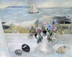 Summer Posy and Sailboat - Sarah Bowman Sea Pictures, Seaside Art, Watercolor Sketch, Naive Art, Painting & Drawing, Life Drawing, Art Pages, Home Art, Art Gallery