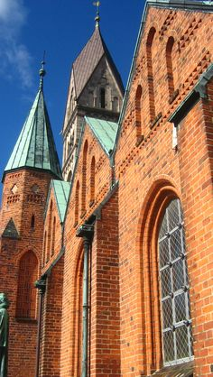 """Ribe, Denmark. Our Lady Maria Cathedral. """"Vor Frue Maria Domkirke"""""""