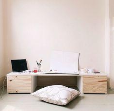 More Like Home: DIY Desk Series #17 - Floor Desk with Drawers