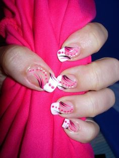 White, Pink and Black Decorated French