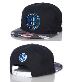 72f0a838 NEW ERA Basketball snapback cap Brooklyn Nets embroidered team logo on  front Adjustable strap on bac.