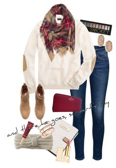"""""""and there he goes, so perfectly"""" by erosehunter ❤ liked on Polyvore featuring Forever 21, J.Crew, Kendra Scott, H&M, Kate Spade, Calvin Klein, Aéropostale, EF Collection, Too Faced Cosmetics and Tory Burch"""