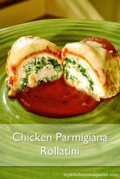Chicken Parmigiana Rollatini - My Kitchen Escapades