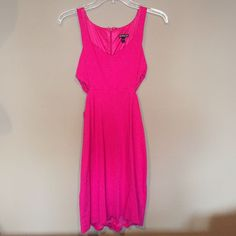 Gorgeous, Summery Pink Cut Out Dress