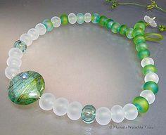 Glass bead necklace by Manuela Wutschke  by ManuelasGlassArt, $255.00