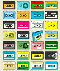 Audio Cassette Tape Wallpaper by xander-wiersma This retro style Audio Cassette Tape Wallpaper will be cool as background, poster screen desktop or as a wallpaper. Ooooh, we love