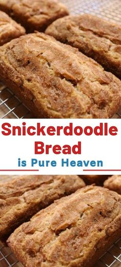 cinnamon bread Snickerdoodle Bread the perfect recipe for all cinnamon lovers! So, are you a connoisseur whos always looking forward to trying out innovative cinnamon recipes If yes, then this particular recipe will be so appropriate Köstliche Desserts, Delicious Desserts, Dessert Recipes, Yummy Food, Cinnamon Recipes, Cinnamon Bread, Cinnamon Chips, Snickerdoodles, Dessert Bread