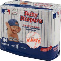 San Francisco Giants Baby Diaper what??? Where??? Nailea needs these now !!! Lol.