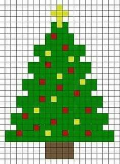 Christmas Perler Beads, Cross Stitch Christmas Ornaments, Xmas Cross Stitch, Christmas Cross, Cross Stitching, Cross Stitch Embroidery, Christmas Tree, Christmas Patterns, Fuse Bead Patterns