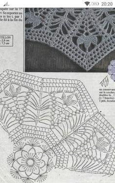Crochet Mandala, Crochet Motif, Crochet Doilies, Crochet Flowers, Knit Crochet, Crochet Hats, Crotchet Patterns, Crochet Stitches Patterns, Stitch Patterns
