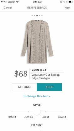 Dear Stitch Fix Stylist - love the scallop detail on this cardigan.