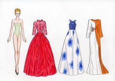 033 - My author paper doll Natalie 243 modern dress at the 41st sheet of A-4 format