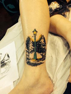 My birthday gift to myself last year. I love all the Narnia books and after going through all the illustrations I chose the lamp that was planted in the beginning of the world.