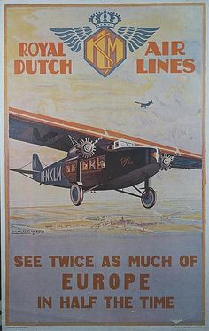 Royal Dutch Airlines Poster