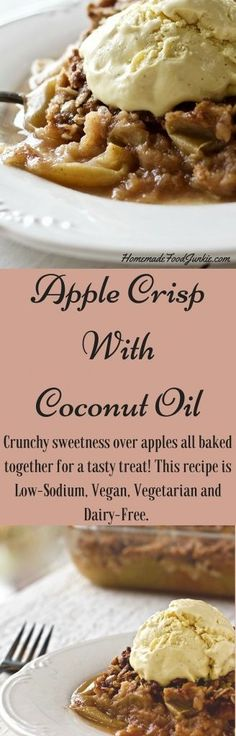 Apple Crisp is crunchy sweetness over fresh ripe apples all baked together for a tasty fall or winter treat! This recipe is Low-?Sodium, Vegan, Vegetarian and Dairy-?Free. An easy, delicious dessert t (Paleo Pork Apple)