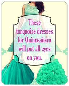 Turquoise Quinceanera dress- These pro tips from social events party planners will help you find an ideal Turquoise Quinceanera dress in no time! Turquoise Quinceanera Dresses, Dream Party, Turquoise Dress, Quince Dresses, Social Events, True Colors, Looking For Women, Dress For You, Beautiful Day