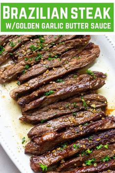 15 min Garlic butter Brazilian Steak Garlic butter Brazilian Steak – the most tender and juicy steak with a garlic butter sauce that's out of this world good! Brazilian Beef Recipe, Brazilian Steak, Brazilian Recipes, Brazilian Blowout, Best Beef Recipes, Meat Recipes, Cooking Recipes, Favorite Recipes, Dinner Recipes