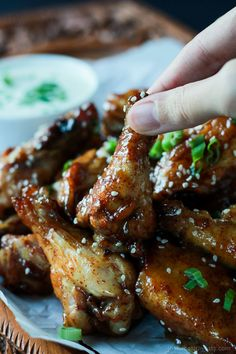 The BEST sauce ever and only for 4 ingredients, this is a must make! Tangy Honey Mustard Baked Chicken Wings | www.joyfulhealthyeats.com #appetizer #recipes