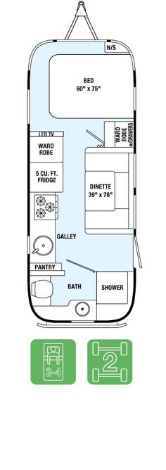International Serenity Trailer - Airstream Floorplan