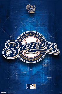Milwaukee Brewers Official MLB Team Logo Poster - in my room!