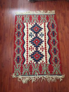 Turkish kilim rug from Oushak city of Western by Centreofrugs, $769.00