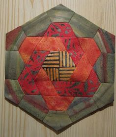 Gorgeous block and use of color...AGREED!heikeswelt Block for hexagon art quilt idea!!