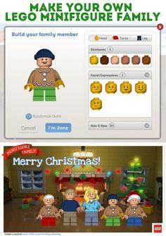 Make your own LEGO Minifigure Family Postcard!
