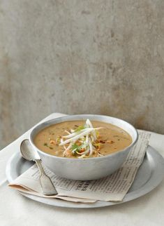 """Indonesian Peanut Soup, Crispy Rice Salad and Nam Tok recipes, plus """"Top 5 Asian cookbooks and Top 5 Asian cooking blogs"""""""