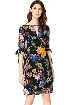 TRUTH & FABLE Women's Midi Chiffon A-Line Dress