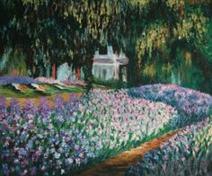 claude monet artist s garden at giverny painting - claude monet ...