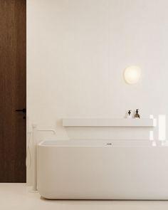 Kid's bathroom #kidsbathroom #modernbarthroomforchildren #minimalisticbathroom #ideasforbathroom #minimalism #minimalisticarchitecture #minimalisticinterior #architecture #modernarchitecture #design #minimalisticdesign #bathroom Minimalist Interior, Minimalist Design, Modern Architecture, Minimalism, Bathtub, Bathroom, House, Standing Bath, Washroom