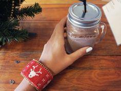 Tutorial DIY: Świąteczna bransoletka ręcznie haftowana przez DaWanda.com