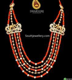 Jewellery Designs - Latest Indian Jewellery Designs 2019 ~ 22 Carat Gold Jewellery one gram gold India Jewelry, Gold Jewelry, Beaded Jewelry, Beaded Necklace, Indian Jewellery Design, Jewelry Design, Jewelry Ideas, Pendants, Corals