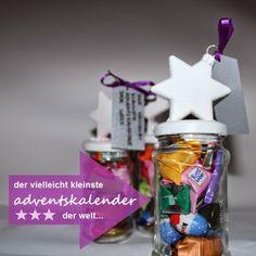 """the purple frog: """"der vielleicht kleinste adventskalender der welt"""" im einmachglas   diy"""