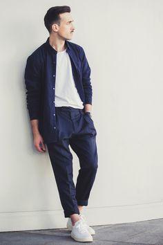 9d1ef8c7ddeb look homme t shirt blanc m studio Vêtements Homme, Mode Homme, Mode  Vetement,
