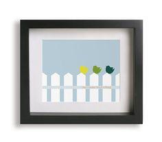 Three Little Birds / Bob Marley - Music Lyric Art Print - children decor, home decor, birds, gift idea, nursery art, wall art