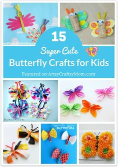 Butterflies are a great spring craft for kids! Here is a fun roundup of super cute butterfly crafts for kids!
