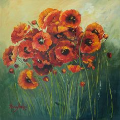 Poppies - by Nancy Phelps     ~ Oil and Watercolor