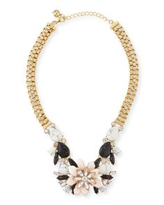 Y2P7B kate spade new york glossy petals statement necklace