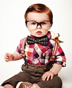 Hipster baby!