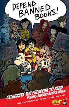 Banned books week poster - JonathanHill_BBWposter_web.jpg (466×720)