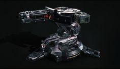 ArtStation - 'Sci-Fi Turret #2' Polycout Challenge, Bartek Nowak