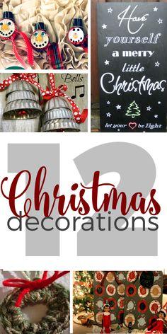 12 Christmas Decorat