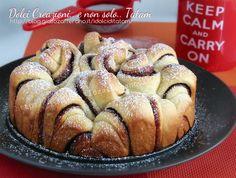 torta di pan brioches nutella danubio dolce