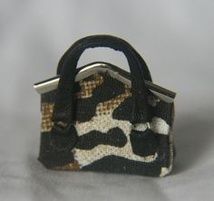 Animal Print Miniature Handbag - 1/12 scale