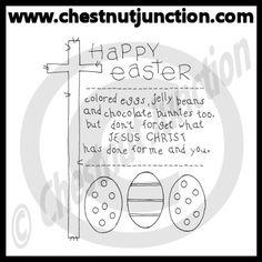 Happy Easter Line Art – Chestnut Junction