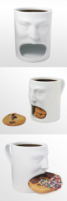 WHAT!? this is amazing! warm up your cookies while you drink your coffee, and it can even hold a doughnut!? Sir, I think I'll just have to have 4 !